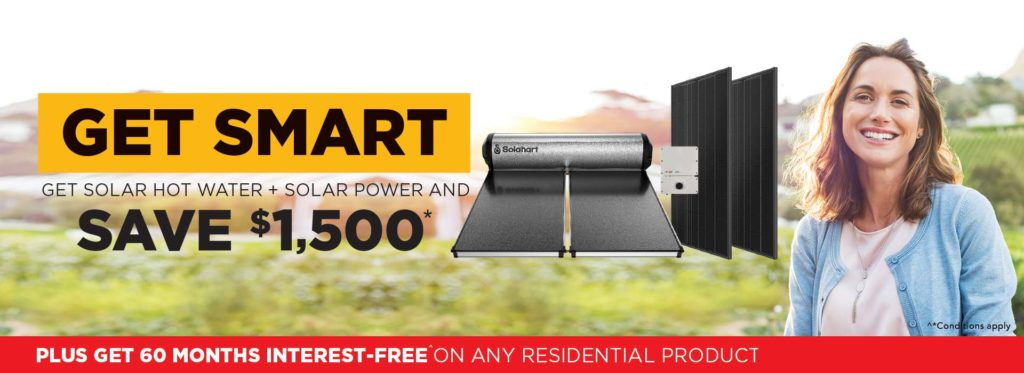Get Solahart Solar Hot Water and Solar Power now and save 1500